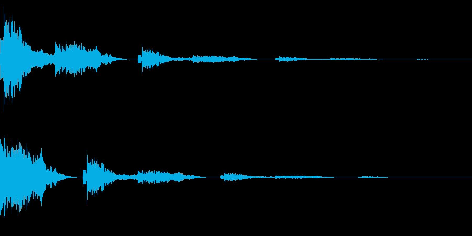 ポンッポコ(クリック_選択決定_05)の再生済みの波形