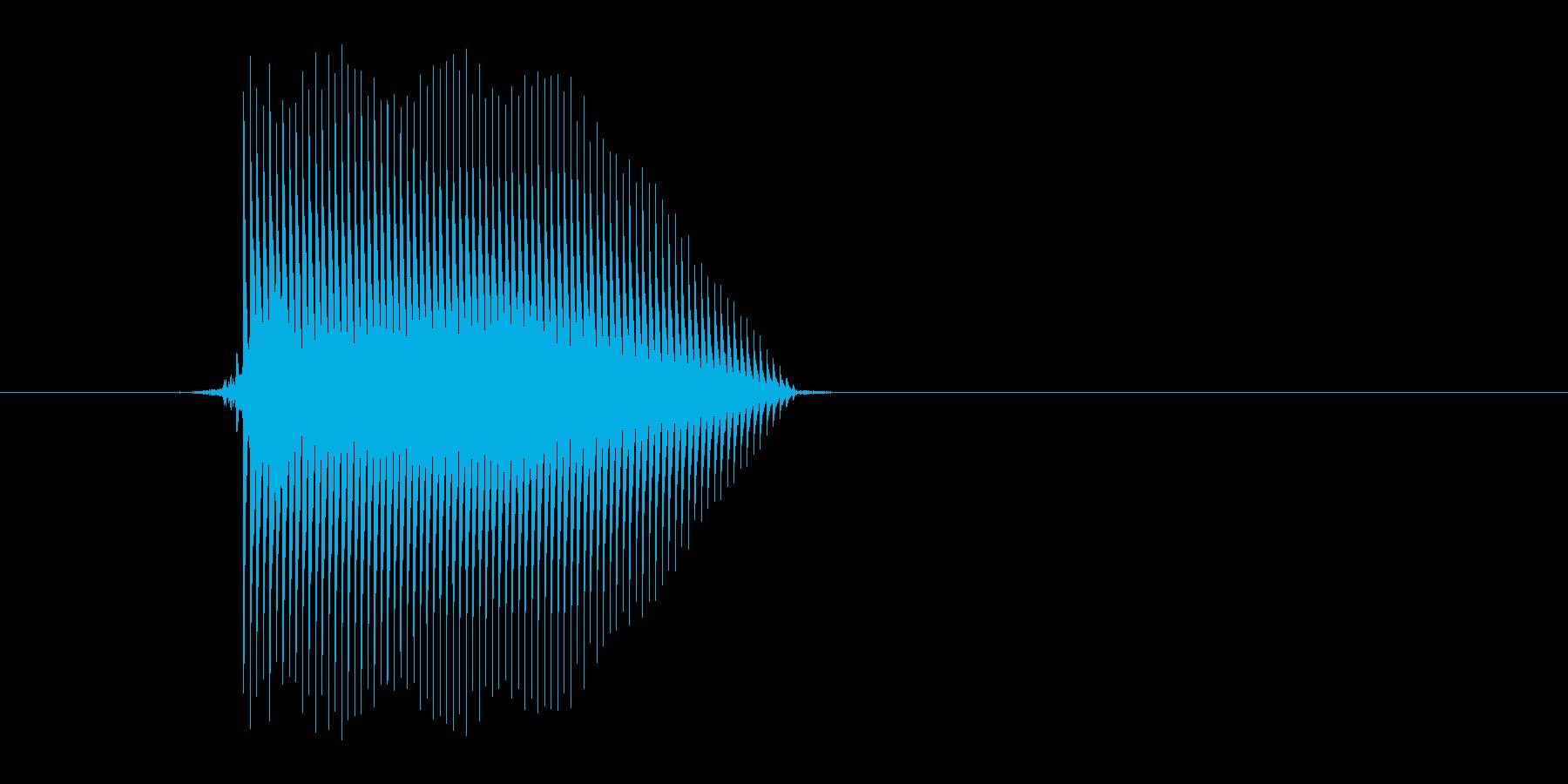 ゲーム(ファミコン風)セレクト音_002の再生済みの波形