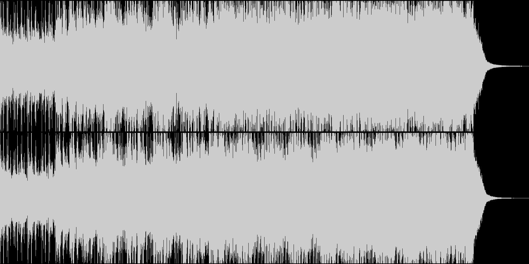 徐々に盛り上がるシネマティックなBGMの未再生の波形