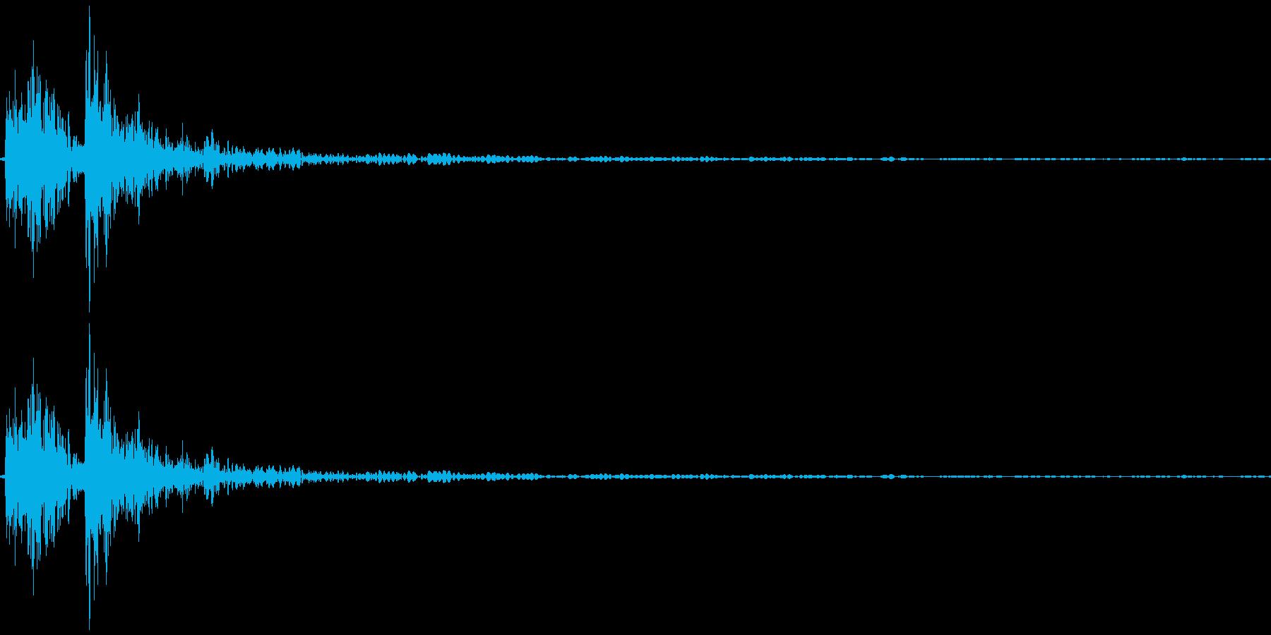 キャンセル音(カッボン)の再生済みの波形