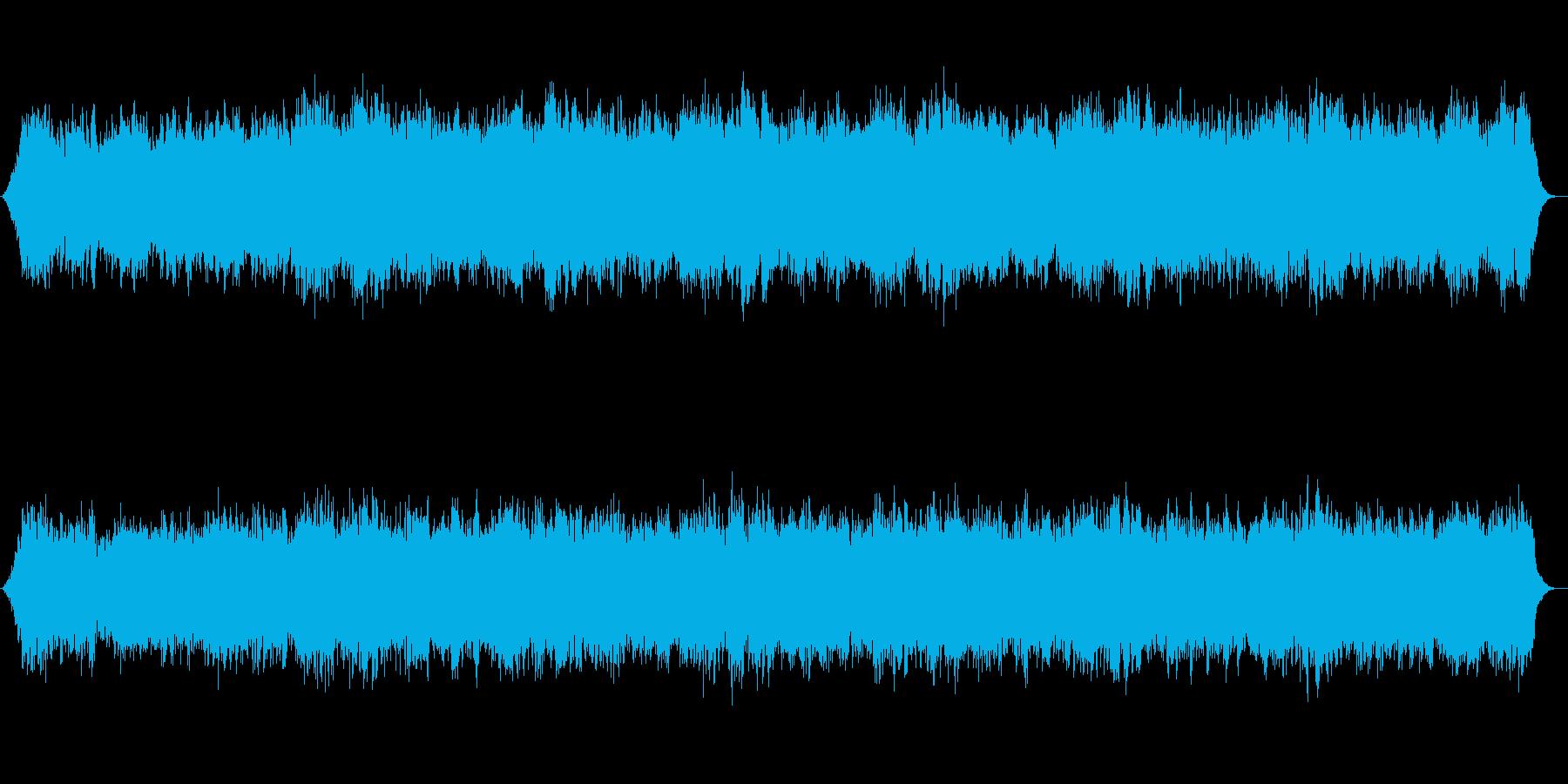 神秘的なシンセサイザーのサウンドの再生済みの波形