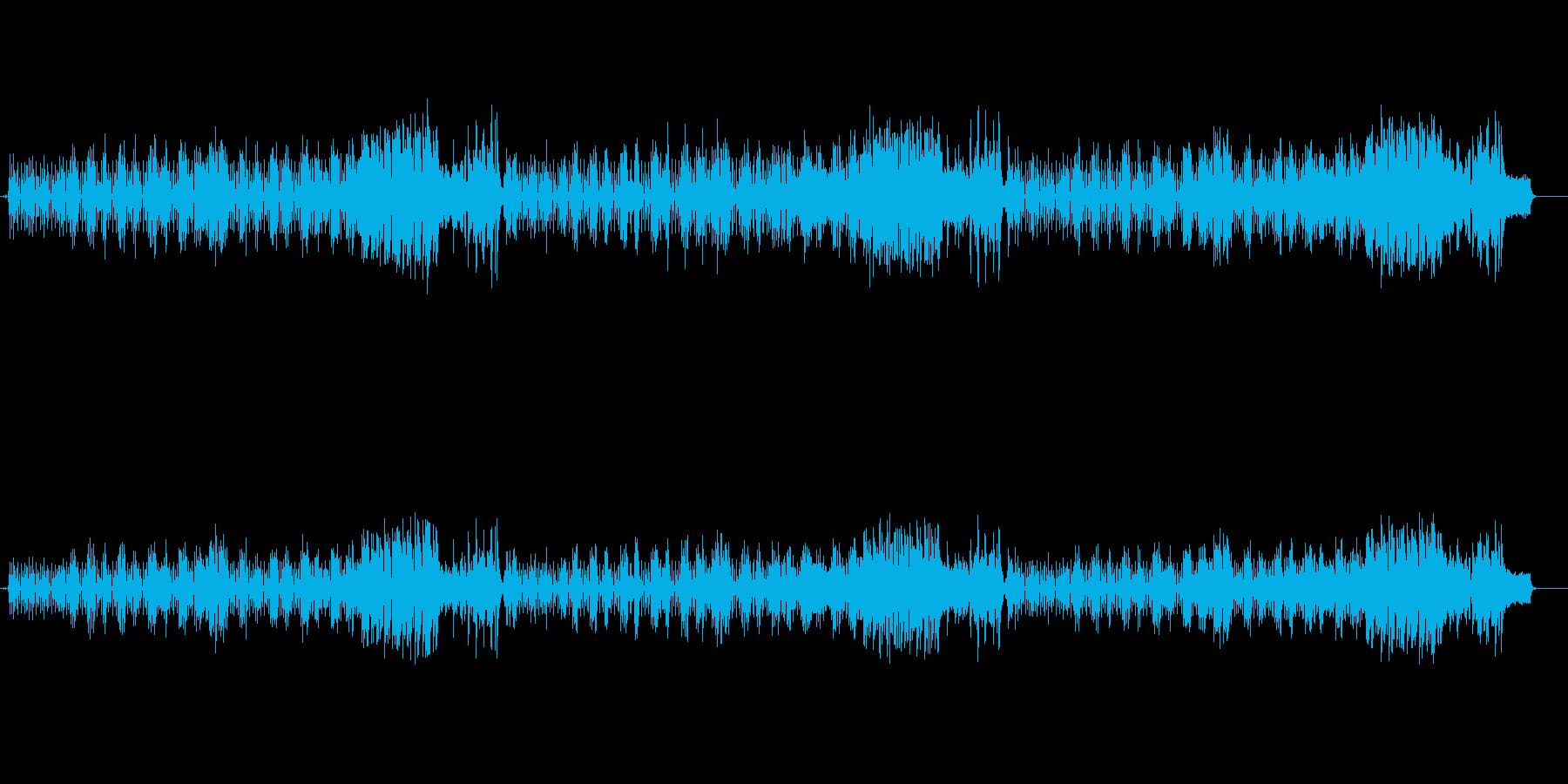 リズミカルな8ビート・フュージョンの再生済みの波形