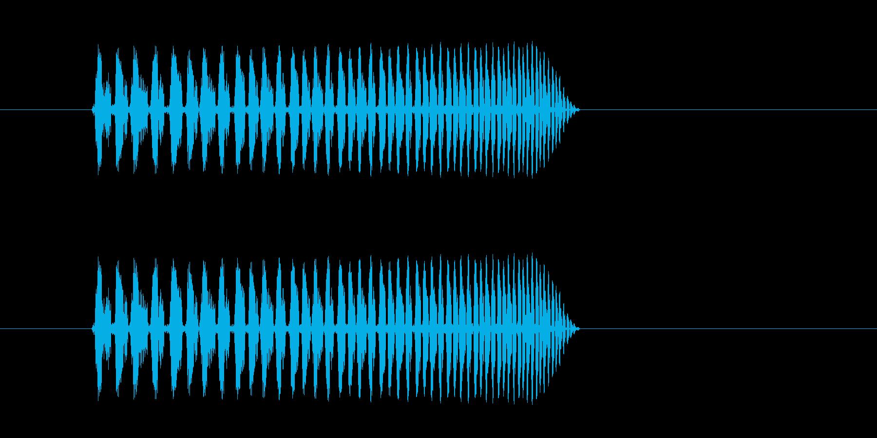 どんどん早くなる、高速回転音の再生済みの波形