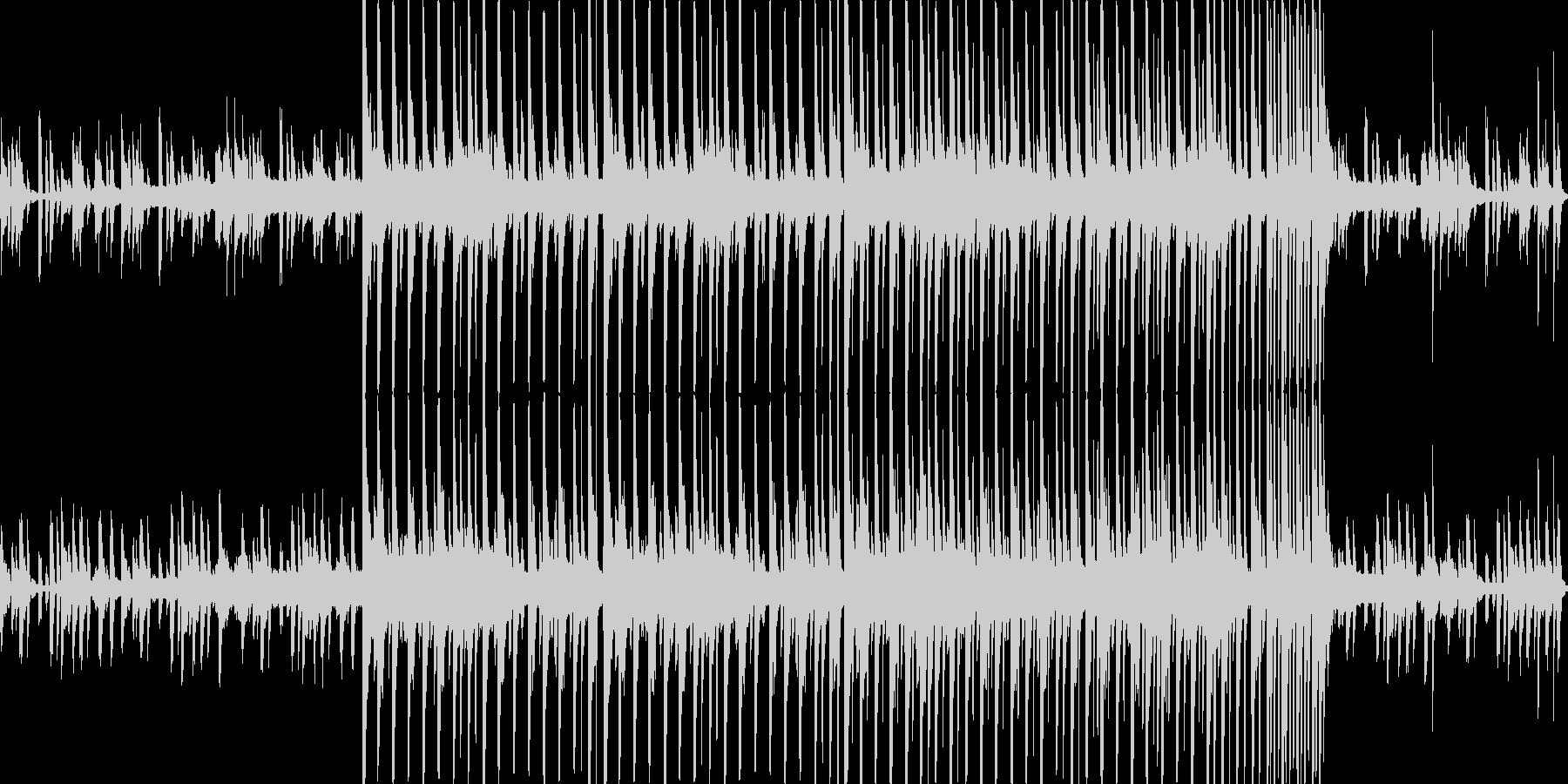 コンピューターの音楽(レトロ)の未再生の波形