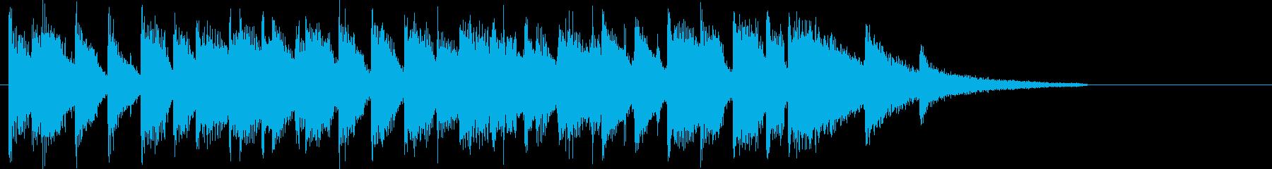 バーに居るようなピアノのジャズジングルの再生済みの波形