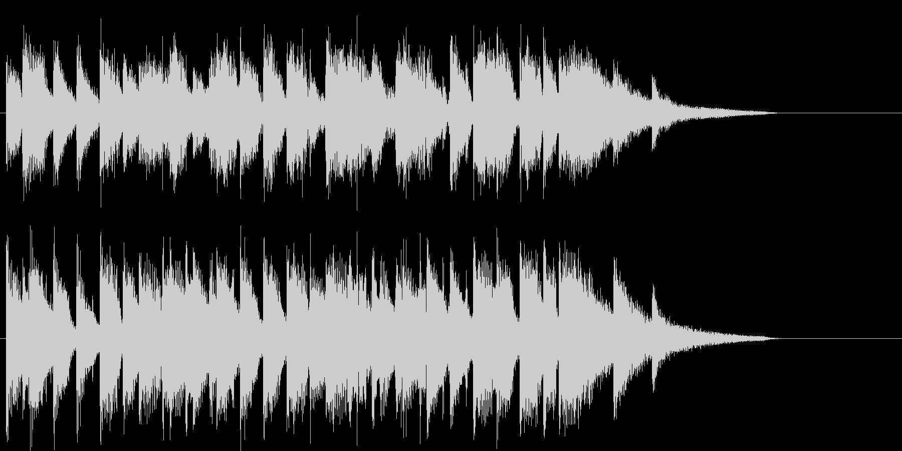 バーに居るようなピアノのジャズジングルの未再生の波形
