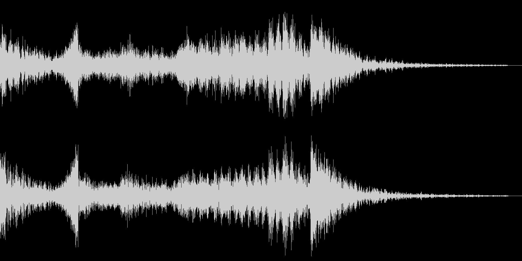 ジングル 恐怖 ピアノの未再生の波形