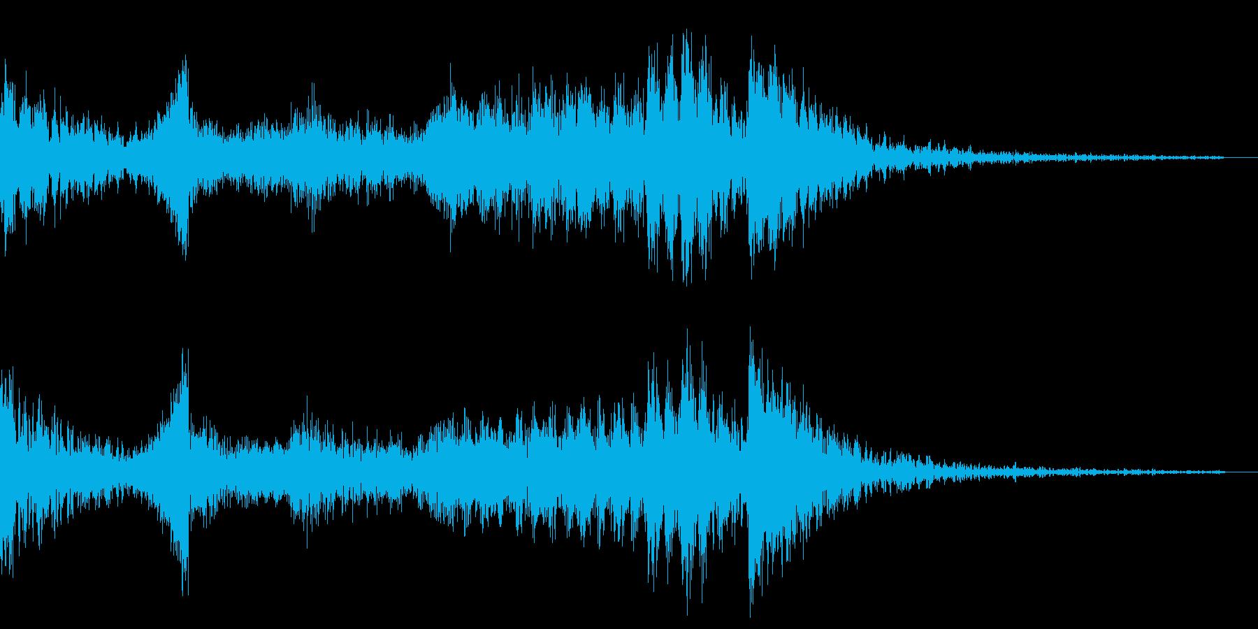 ジングル 恐怖 ピアノの再生済みの波形