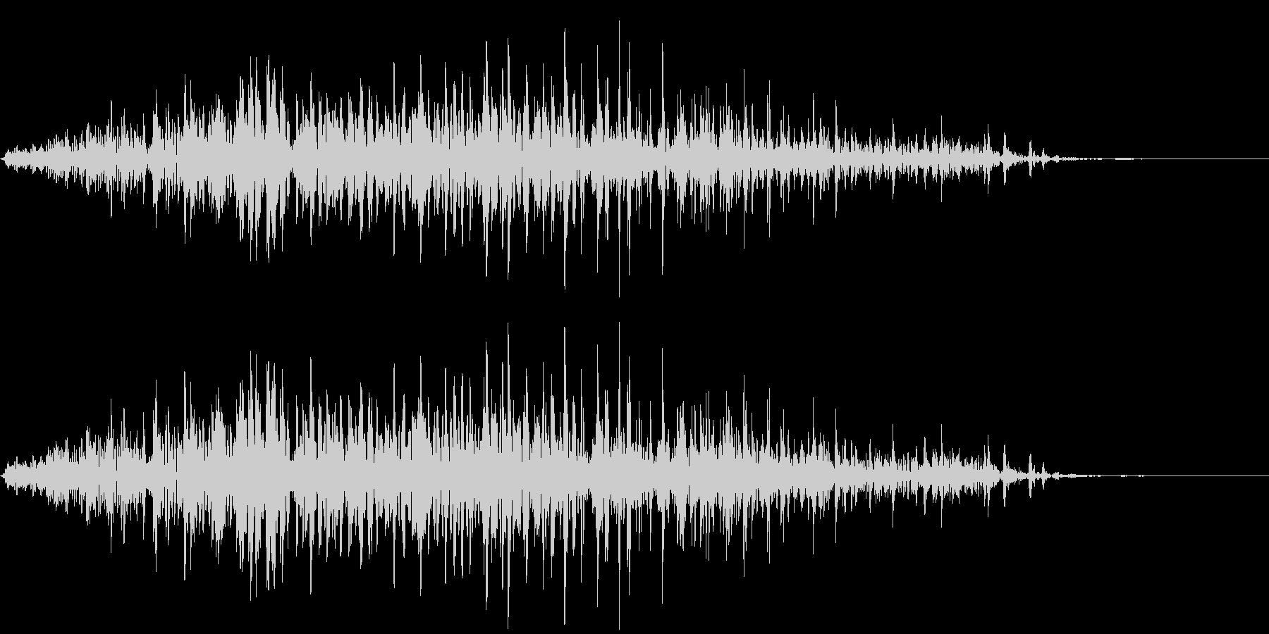 ゾンビの声(動物的)の未再生の波形