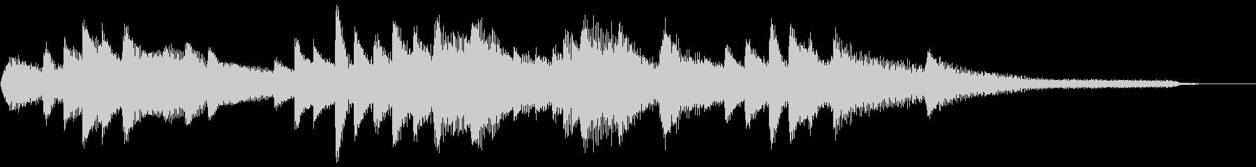 和風のジングル1-ピアノソロの未再生の波形