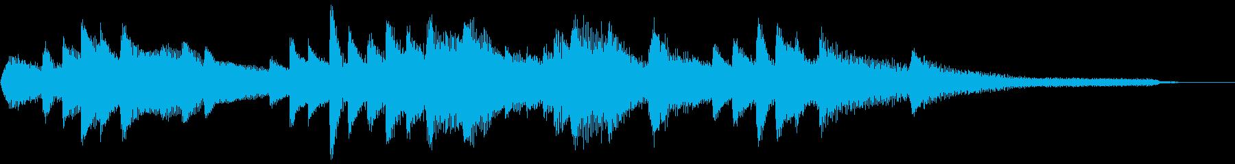 和風のジングル1-ピアノソロの再生済みの波形