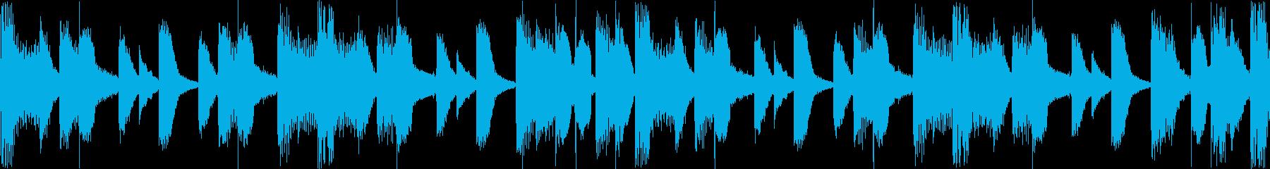 EDMデジタル系のリズムLoopの再生済みの波形