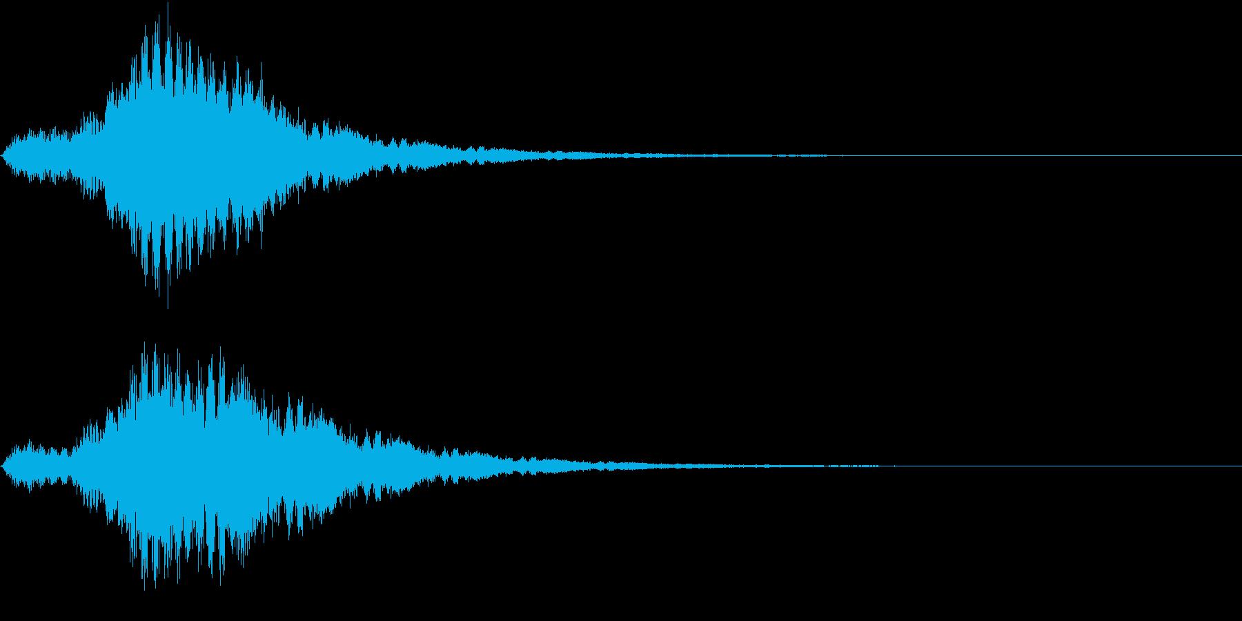 Coin ビットコインなどの決済音の再生済みの波形