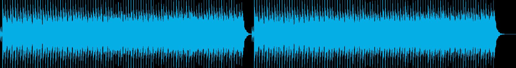 ホラーで残酷な曲の再生済みの波形