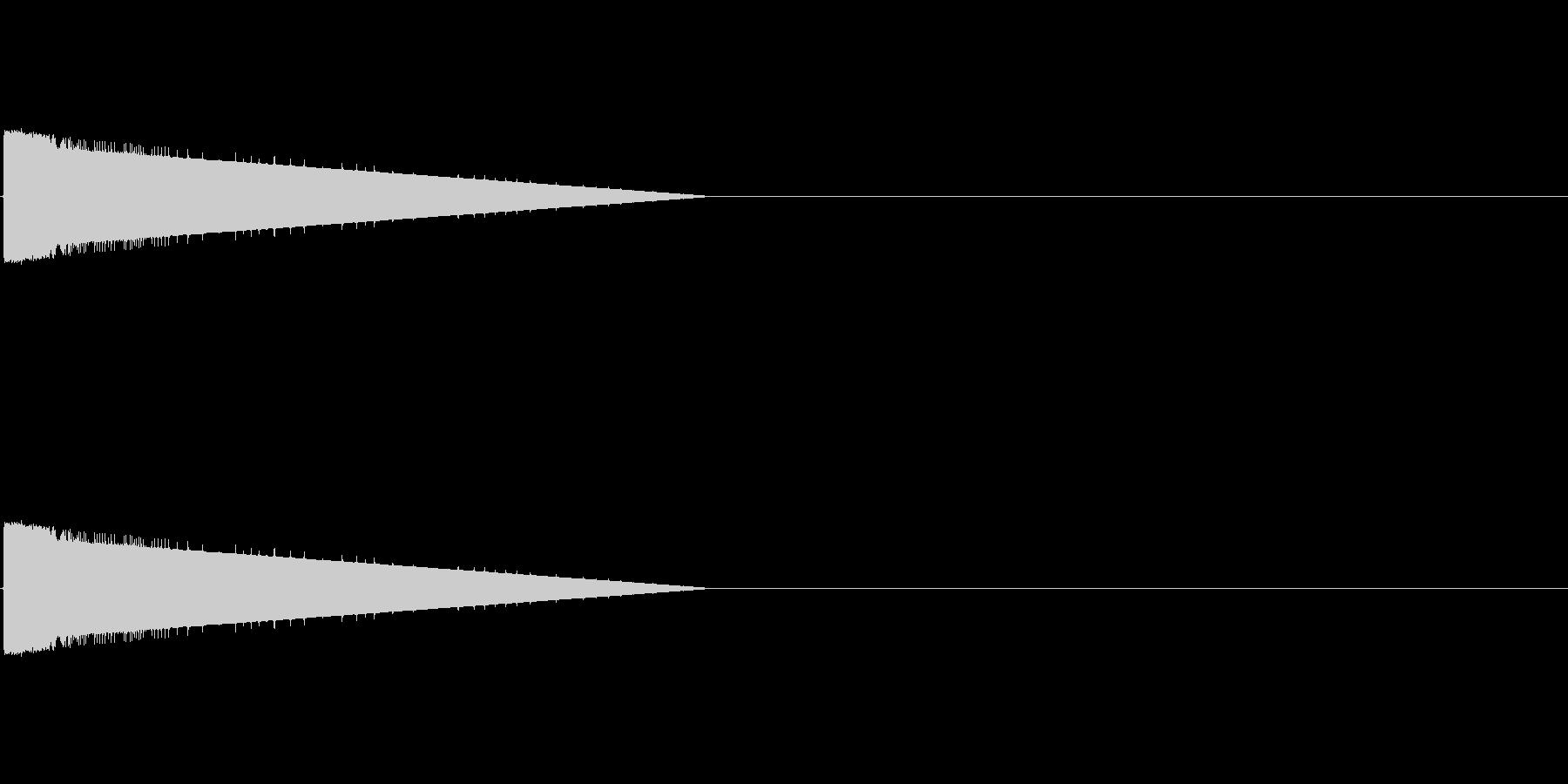 レトロゲーム風爆発音1の未再生の波形