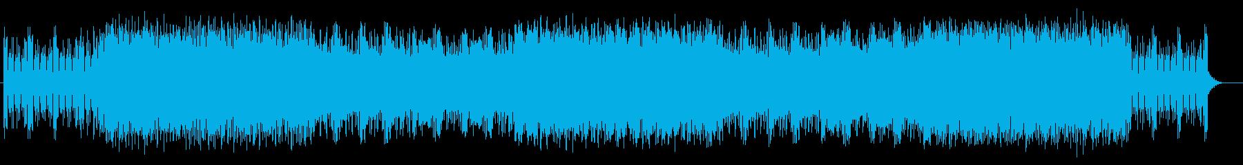 リズミカルなピアノが特徴の激しいポップスの再生済みの波形
