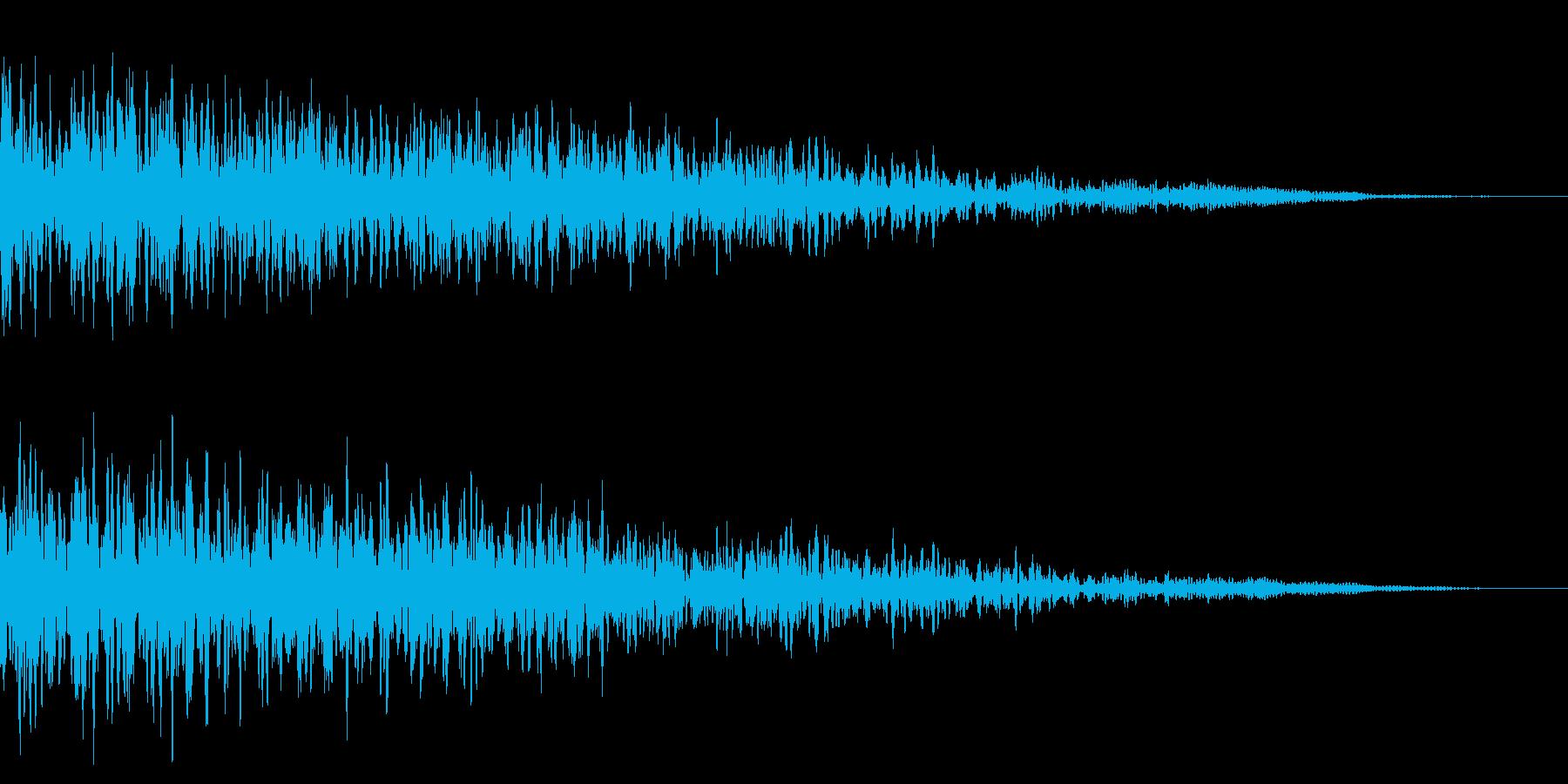 ホラー系アタック音11の再生済みの波形