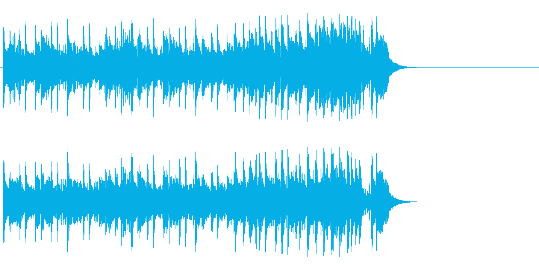 空と海の爽快フュージョン(イントロ)の再生済みの波形