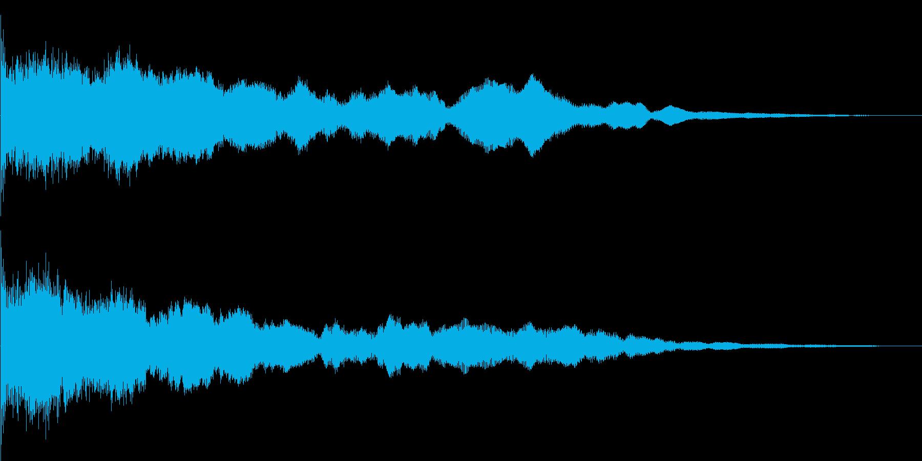 異世界の鐘の再生済みの波形