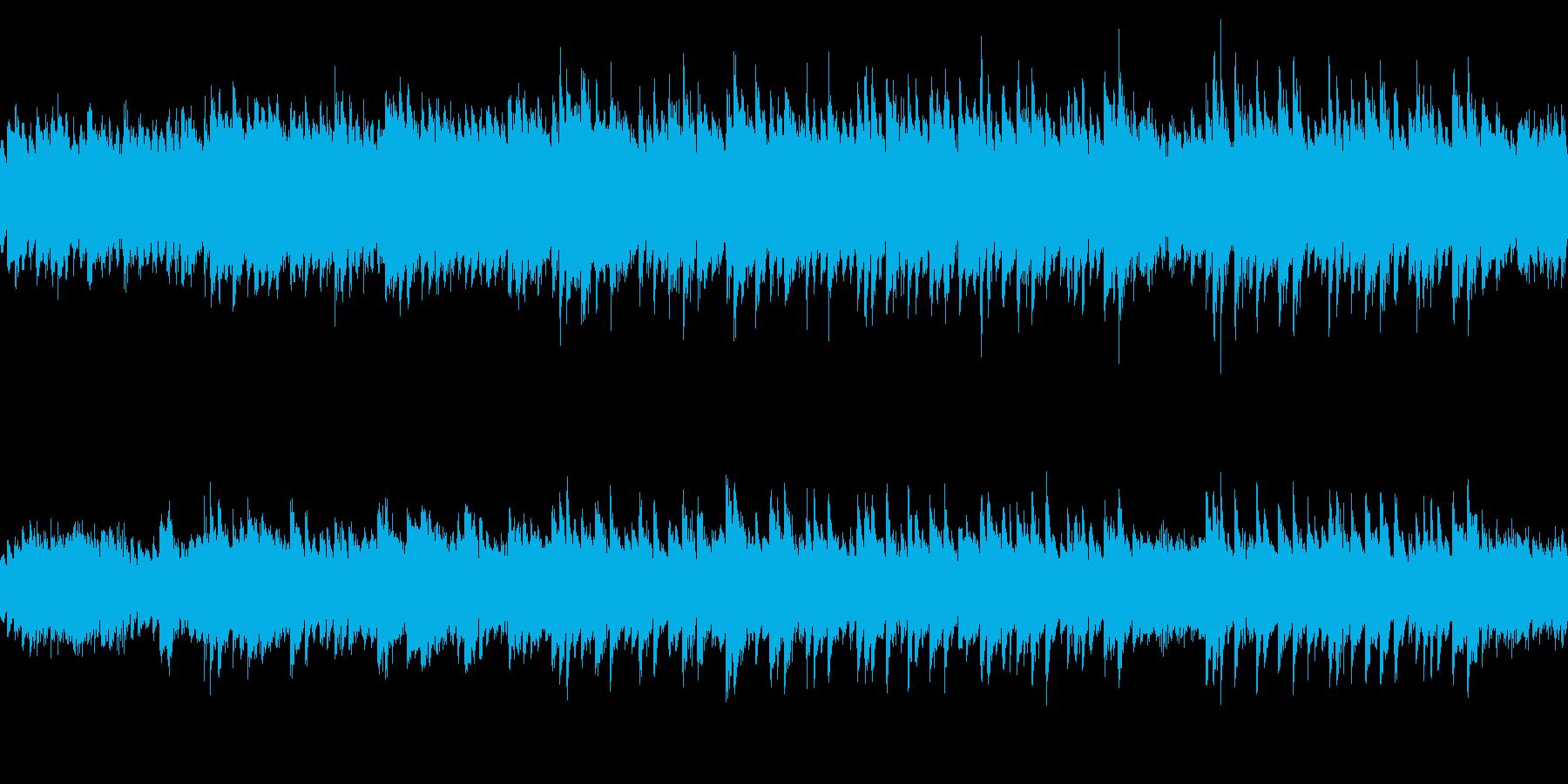 ゲームのタイトル画面等に使えるピアノソロの再生済みの波形