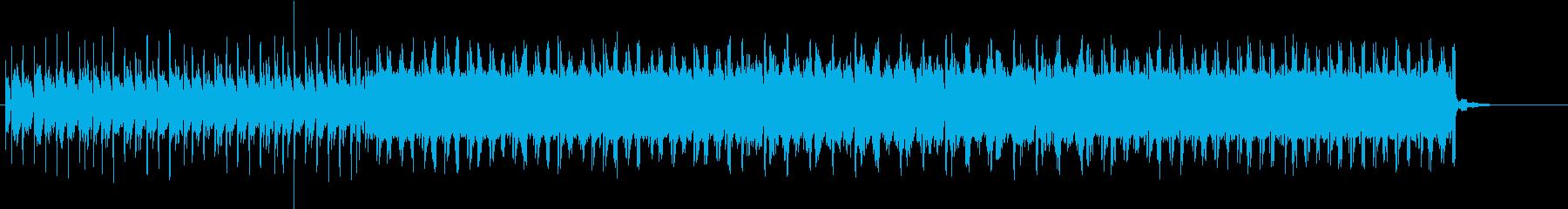 勇ましいシーンのBGMの再生済みの波形