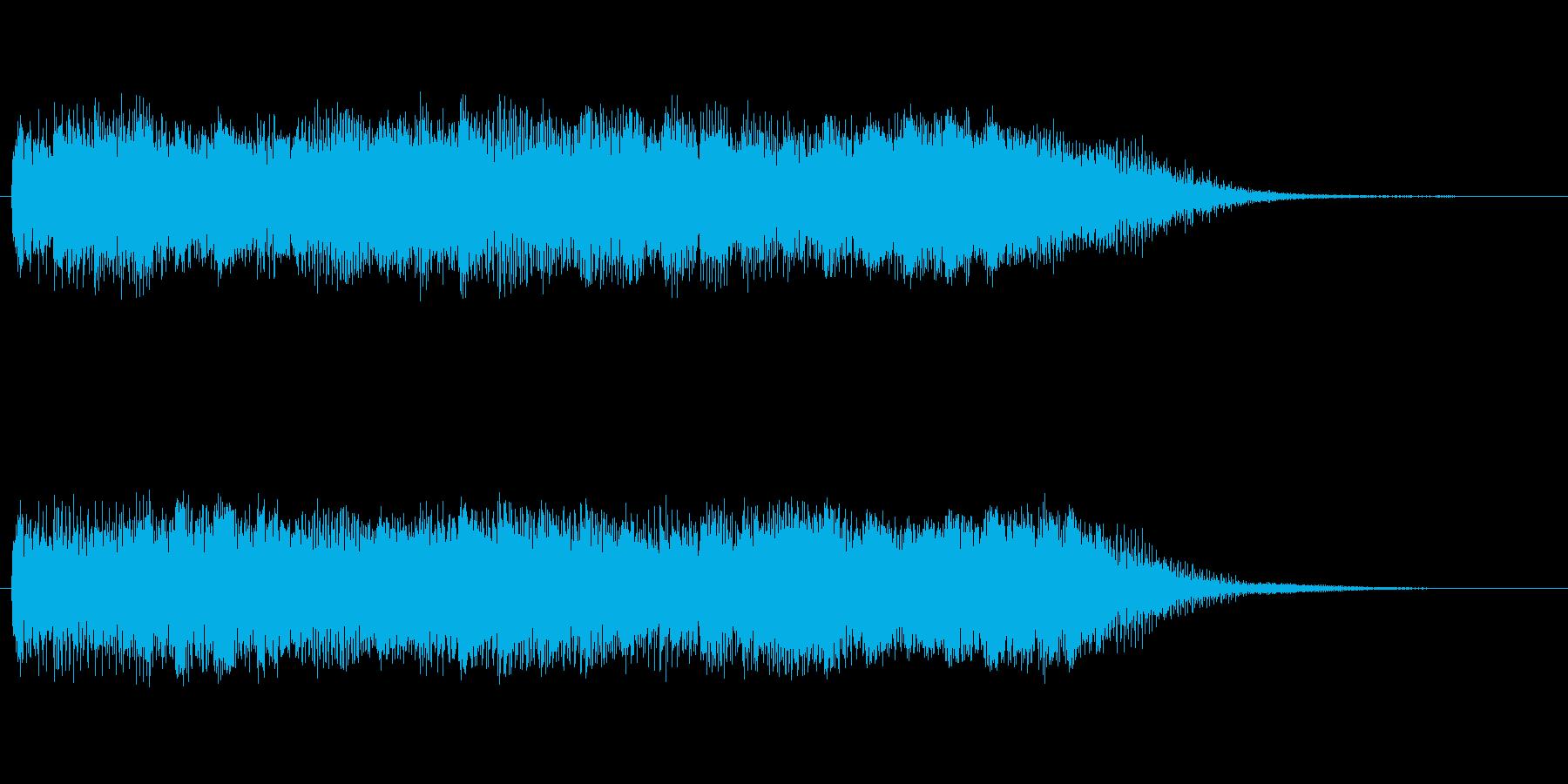 回転音的で動物の鳴き声にも聞こえる音ですの再生済みの波形