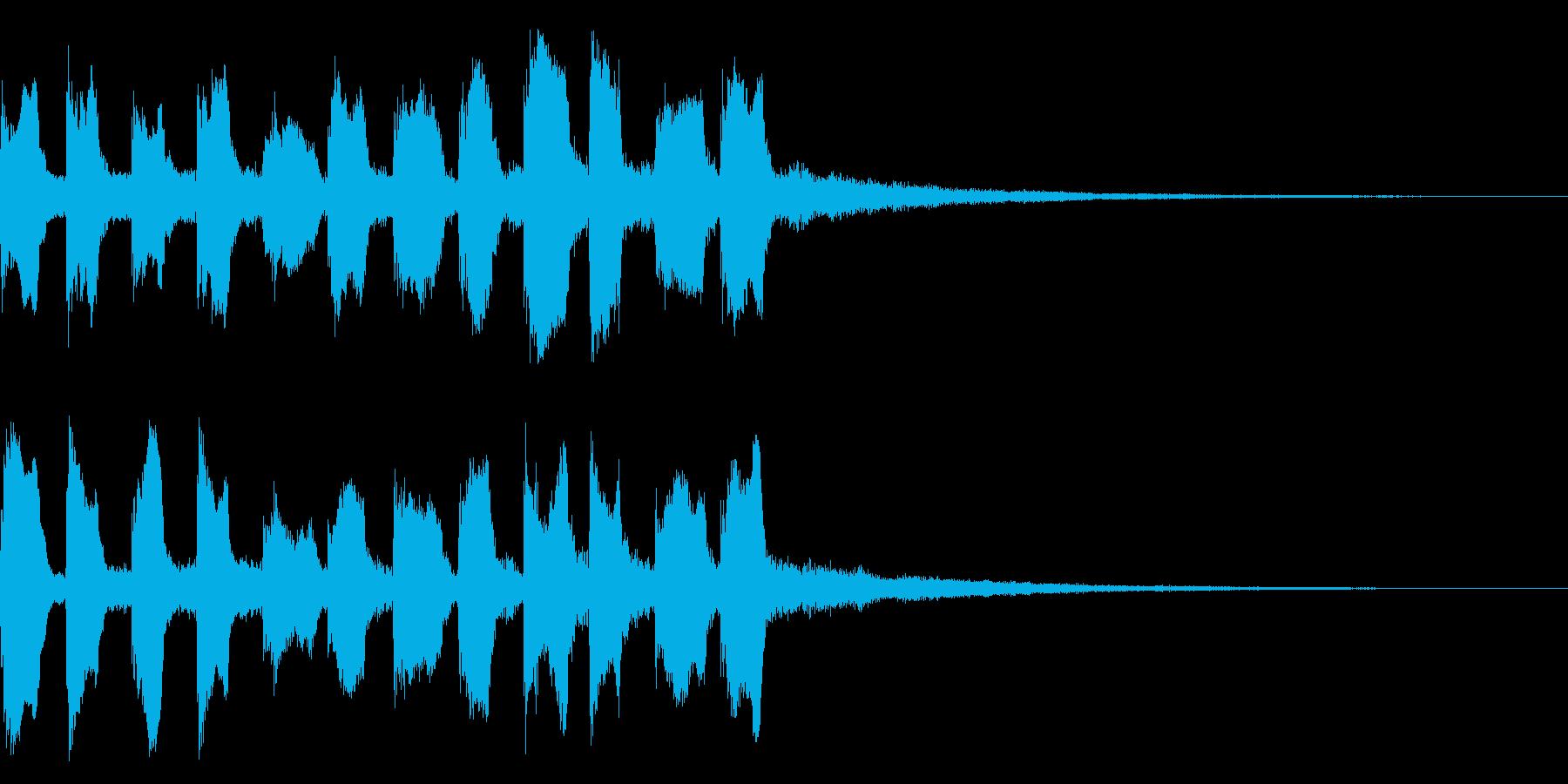 歩き出すときのサウンドの再生済みの波形