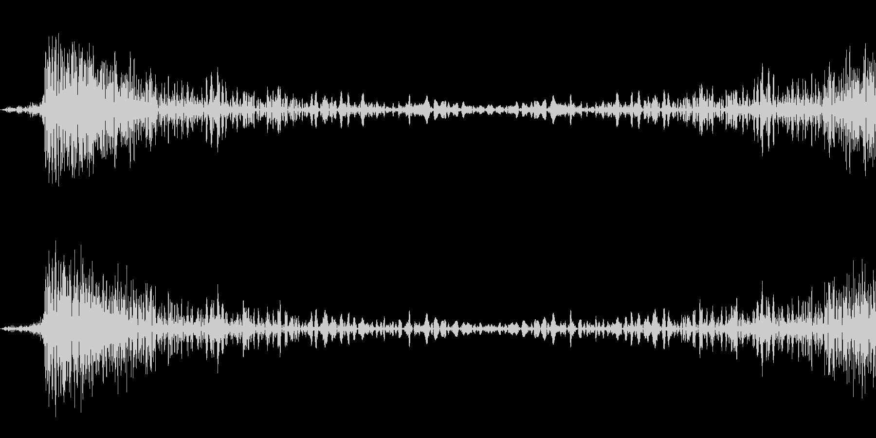 定番DJスクラッチ。特に音楽制作向きの未再生の波形