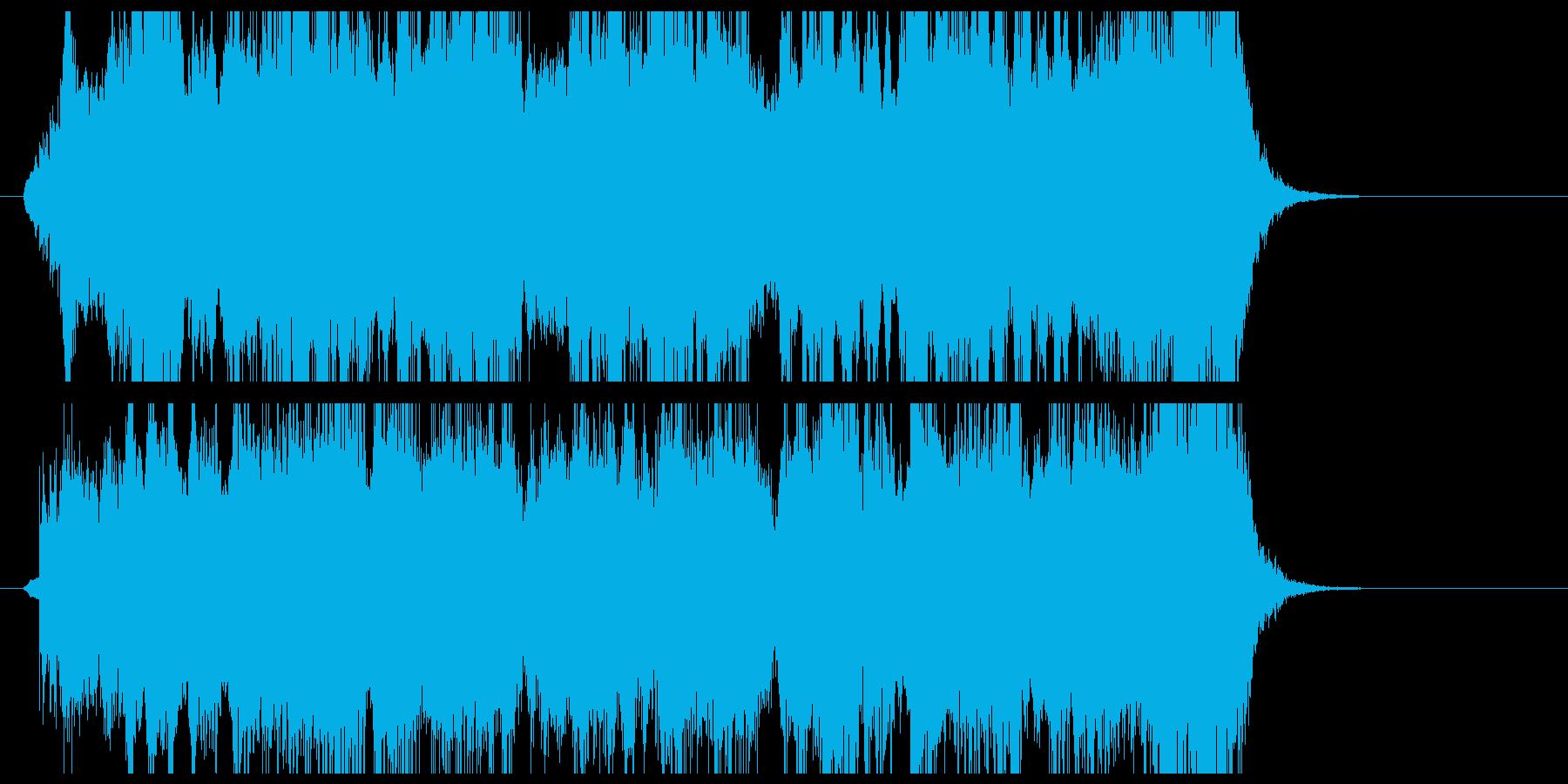 壮大で華麗なオーケストラジングルの再生済みの波形