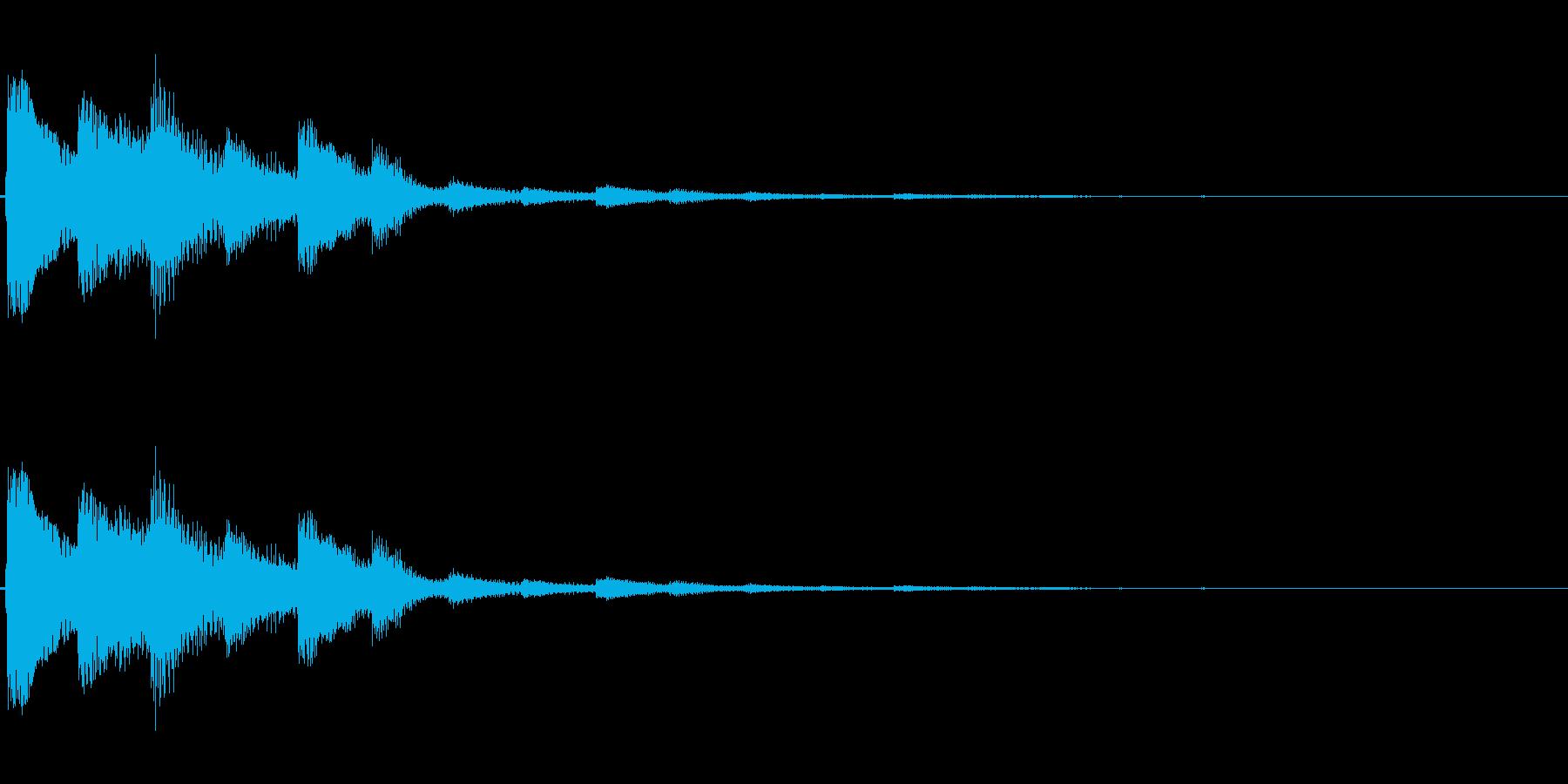 明るい響きのアラーム音(エコー付き)の再生済みの波形