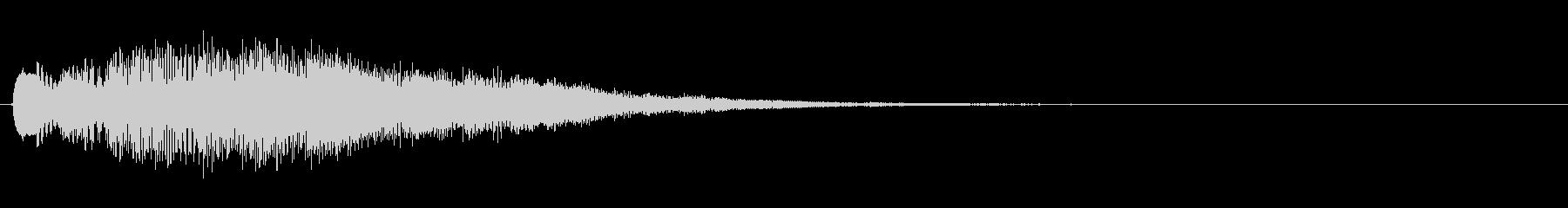 キラキラしたベルの上昇音4の未再生の波形