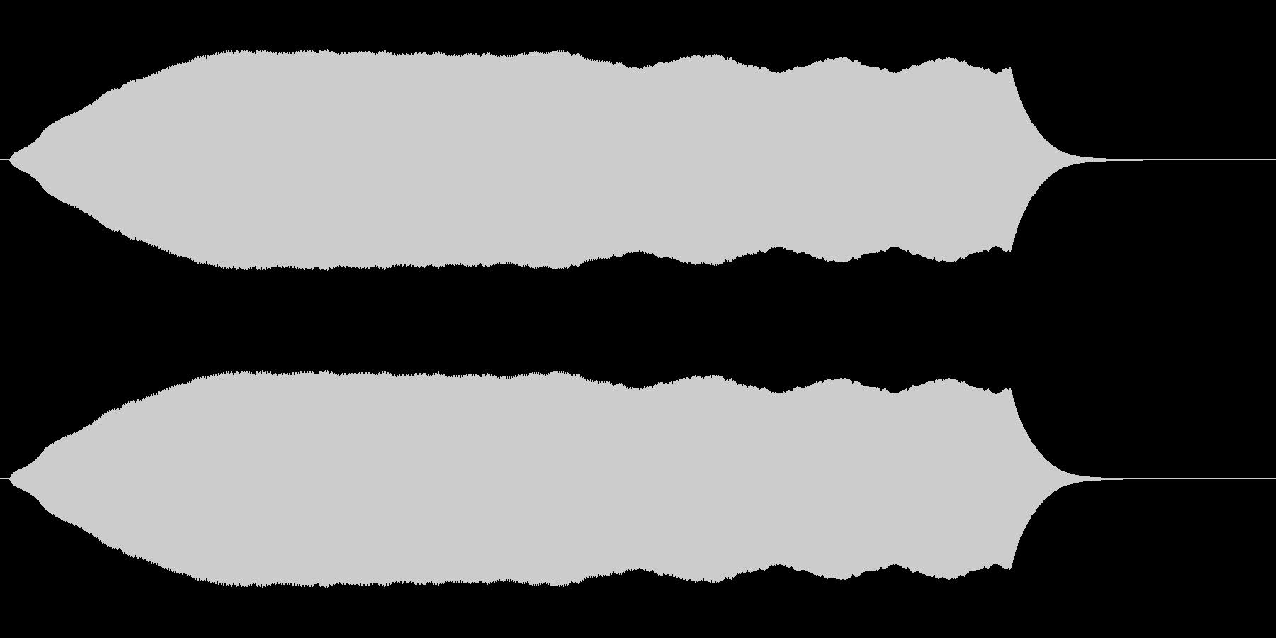 プ〜↑ン(無段階上昇音)の未再生の波形