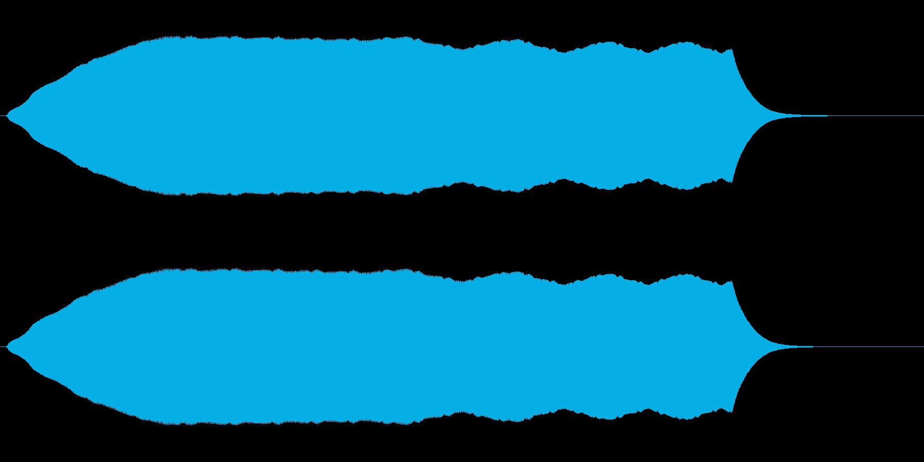 プ〜↑ン(無段階上昇音)の再生済みの波形
