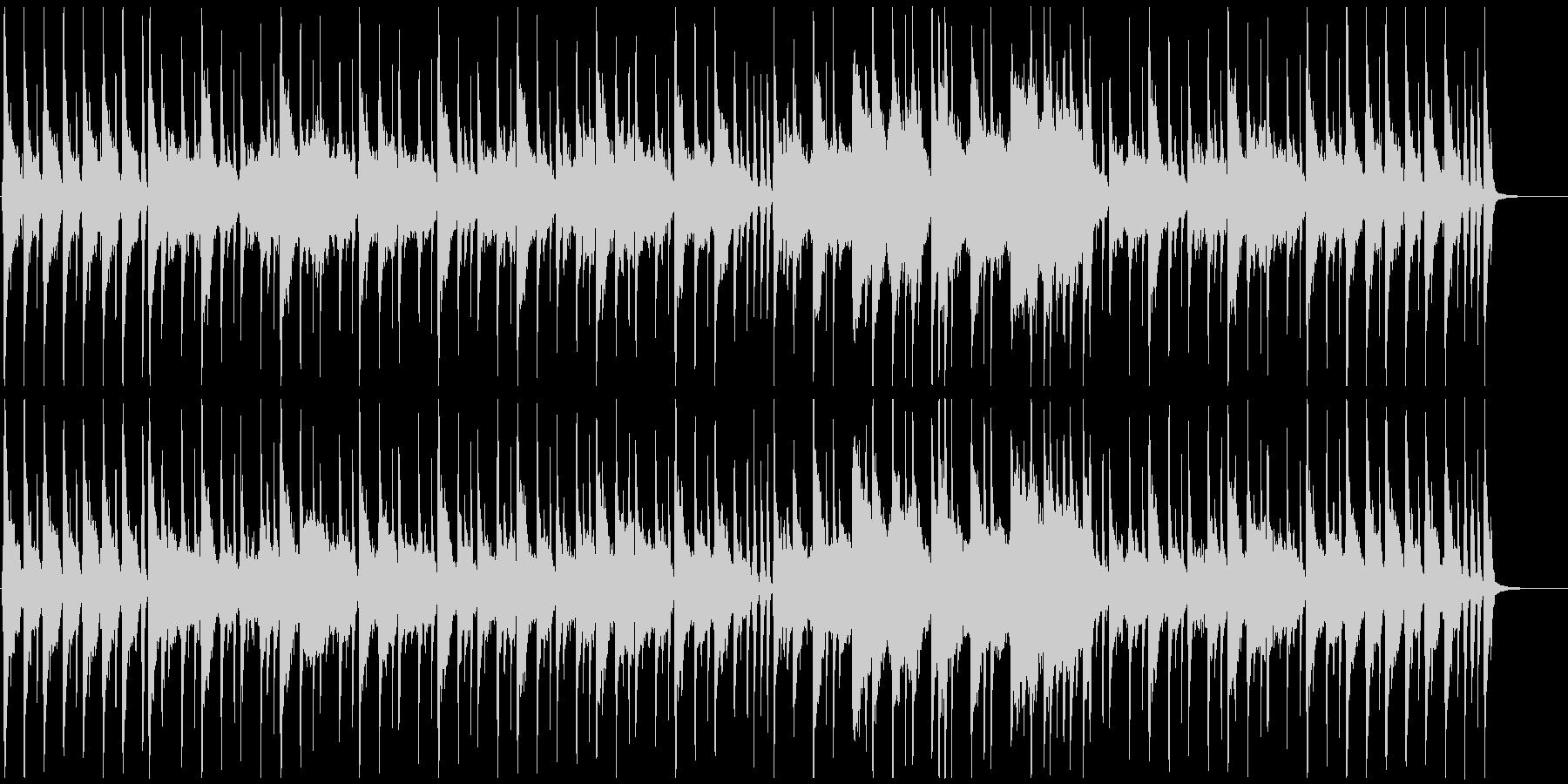 穏やかな日常系のワルツの未再生の波形
