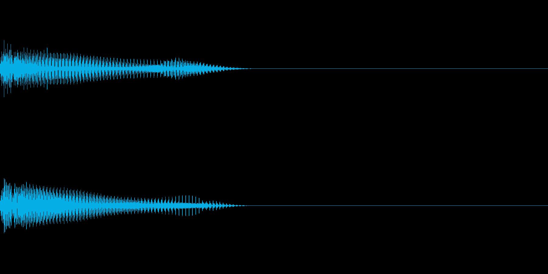 出現シーンや攻撃演出に使えるシンセSEの再生済みの波形