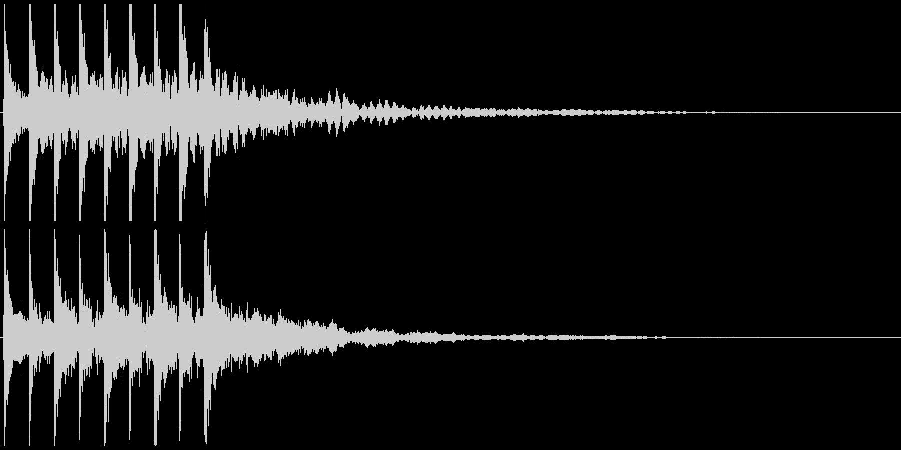 テテテテテ(速い)の未再生の波形