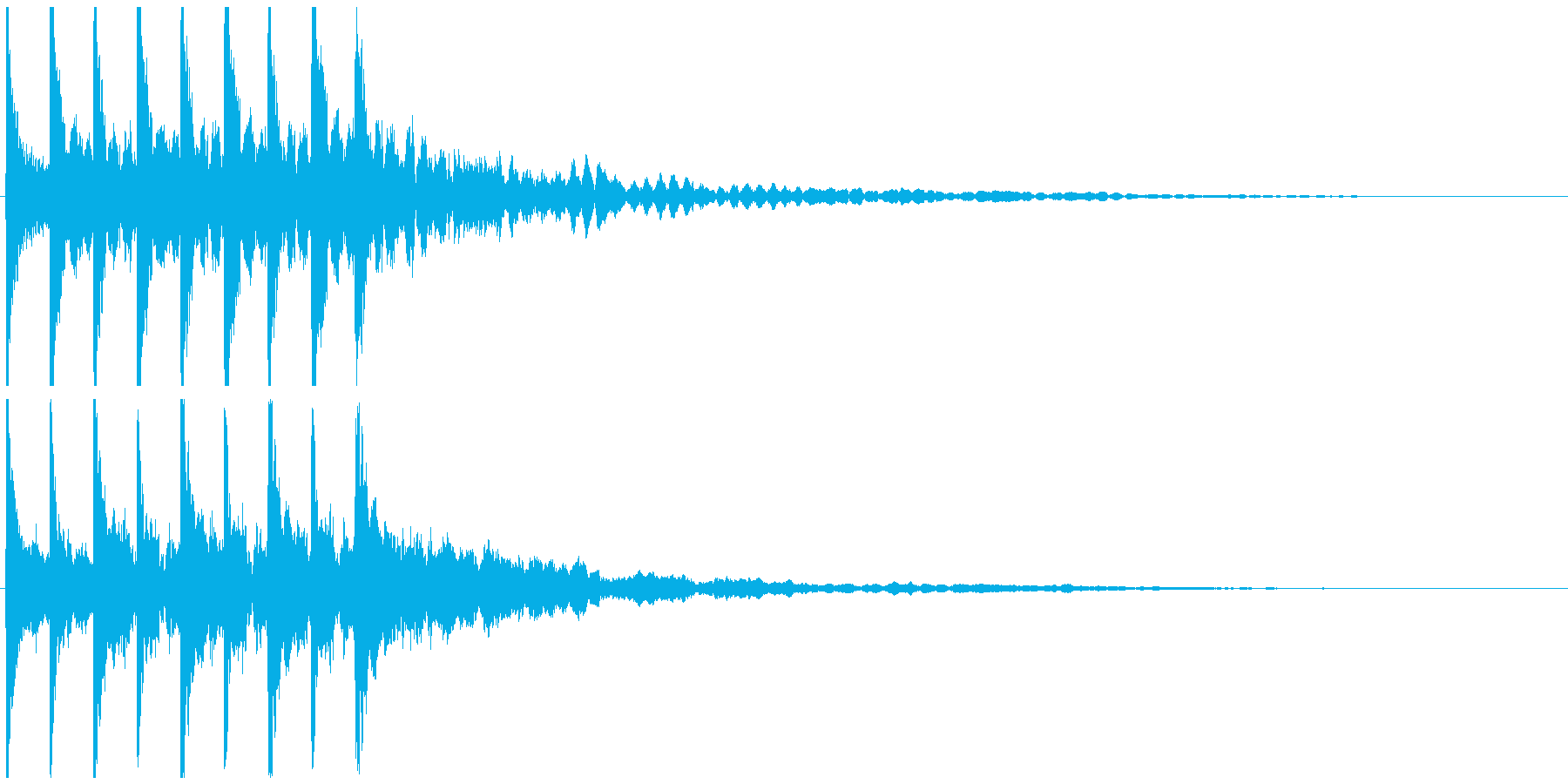 テテテテテ(速い)の再生済みの波形