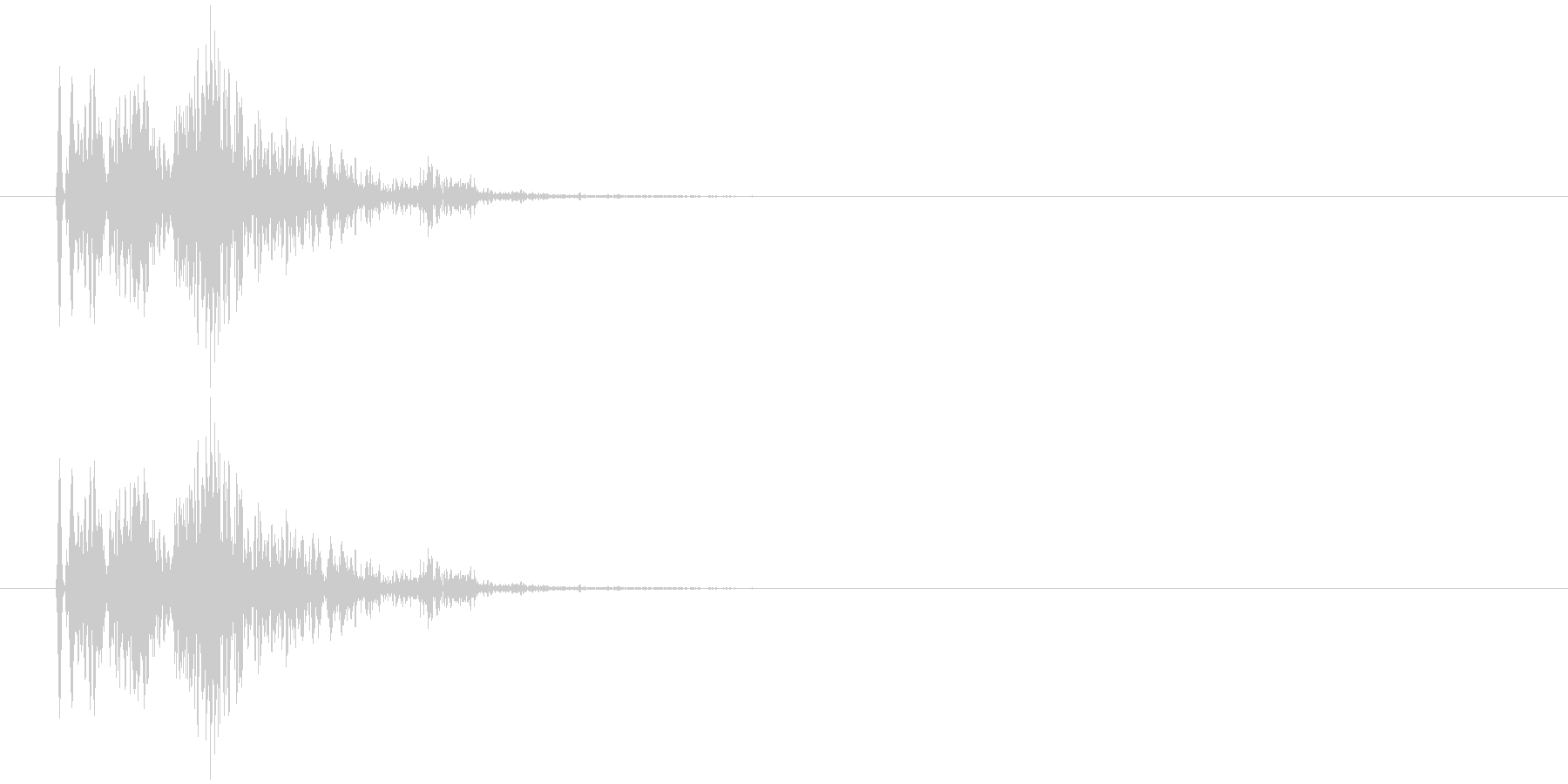 ンギュ(電子音)の未再生の波形