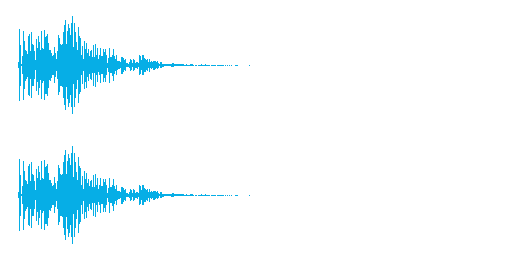 ンギュ(電子音)の再生済みの波形