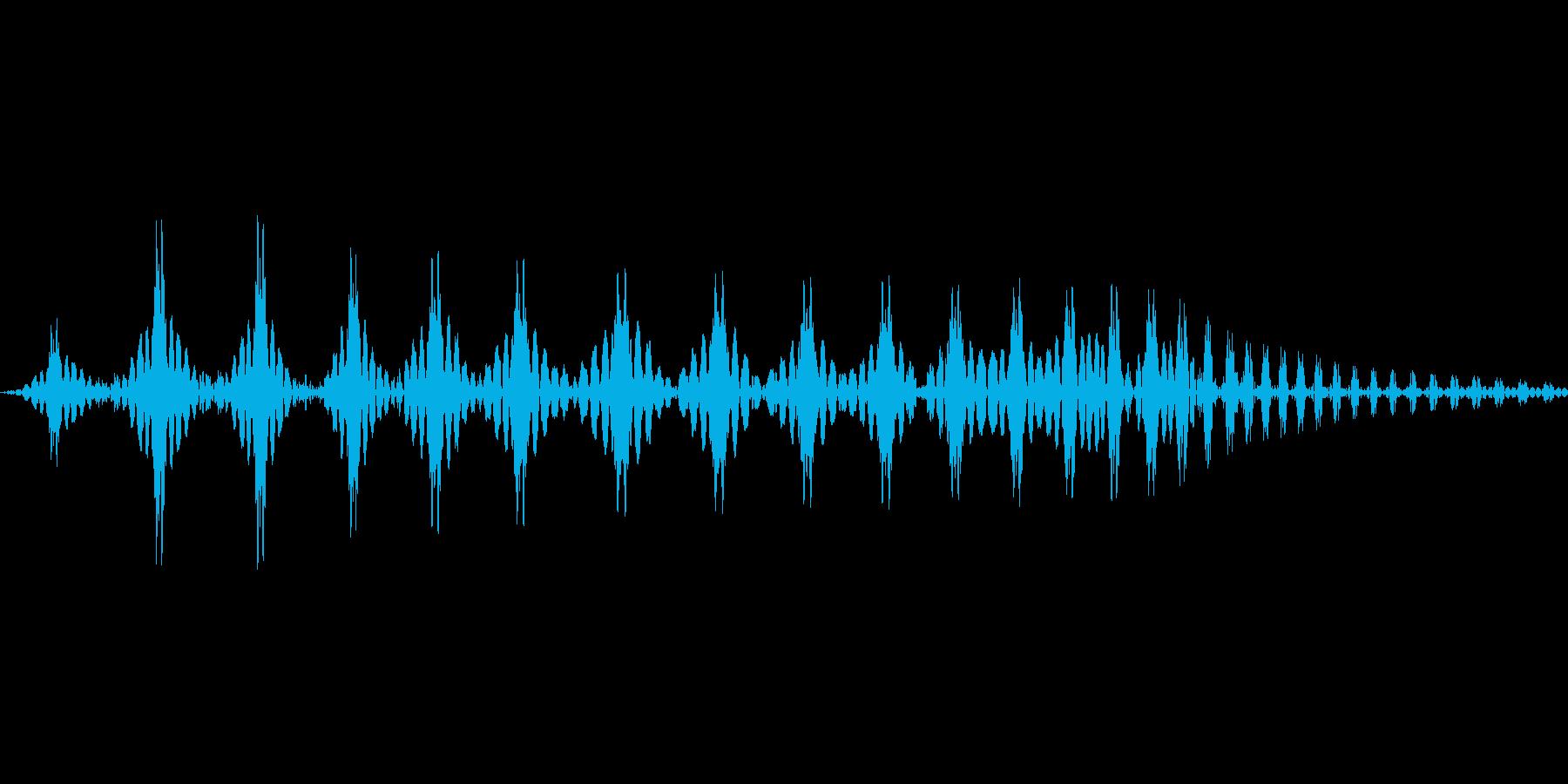 キモカワ系のキャラクターの鳴き声の再生済みの波形