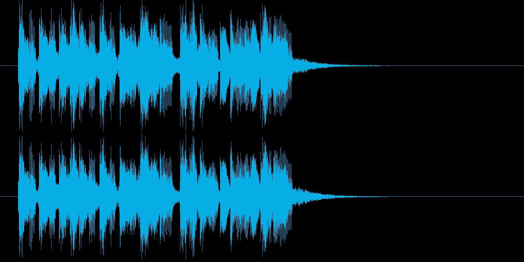 元気で可愛い電子音のジングルの再生済みの波形