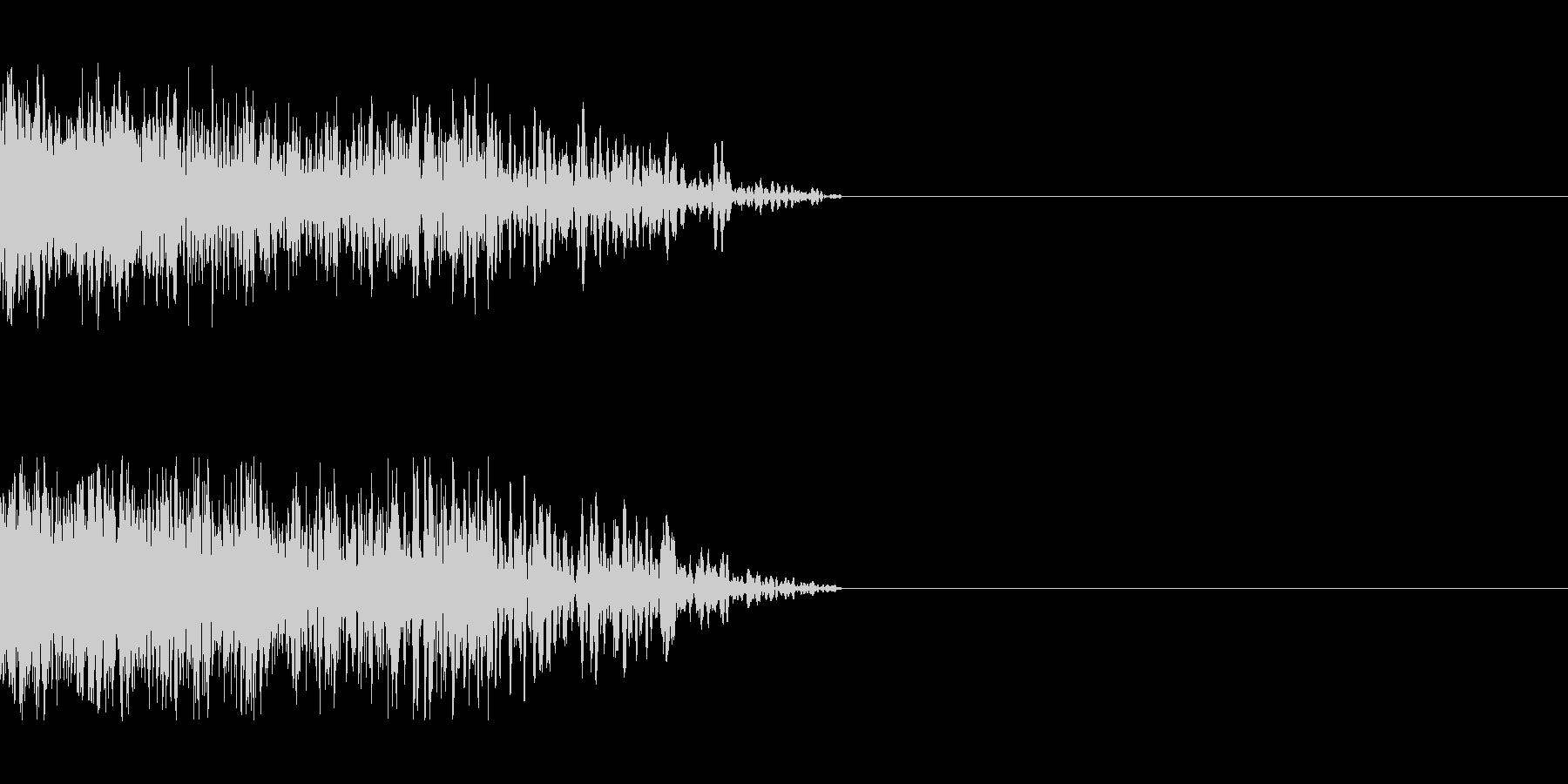 ビーム ワンショット8の未再生の波形
