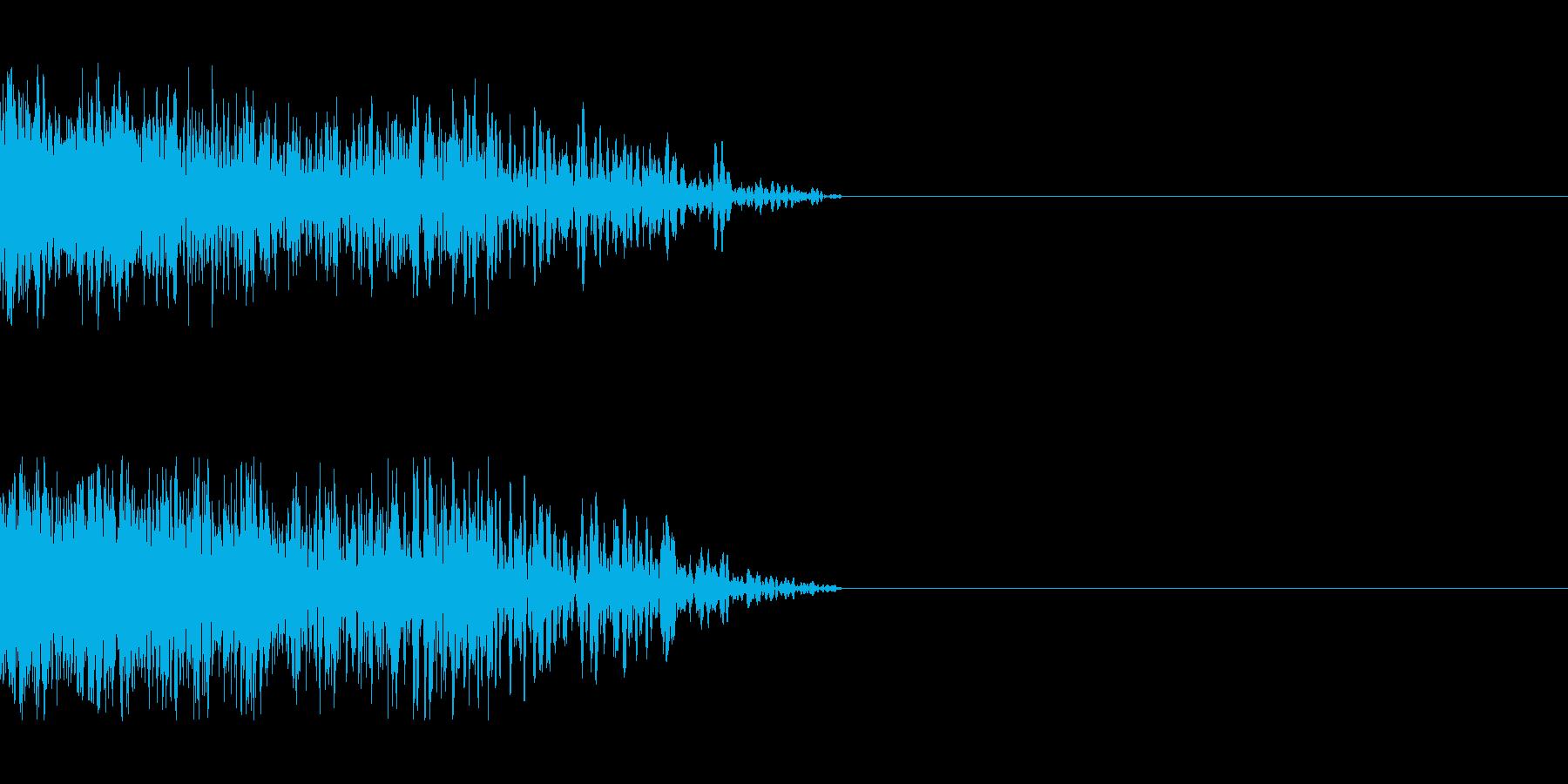 ビーム ワンショット8の再生済みの波形