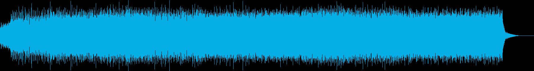 ピコピコ系のインダストリアルロックの再生済みの波形