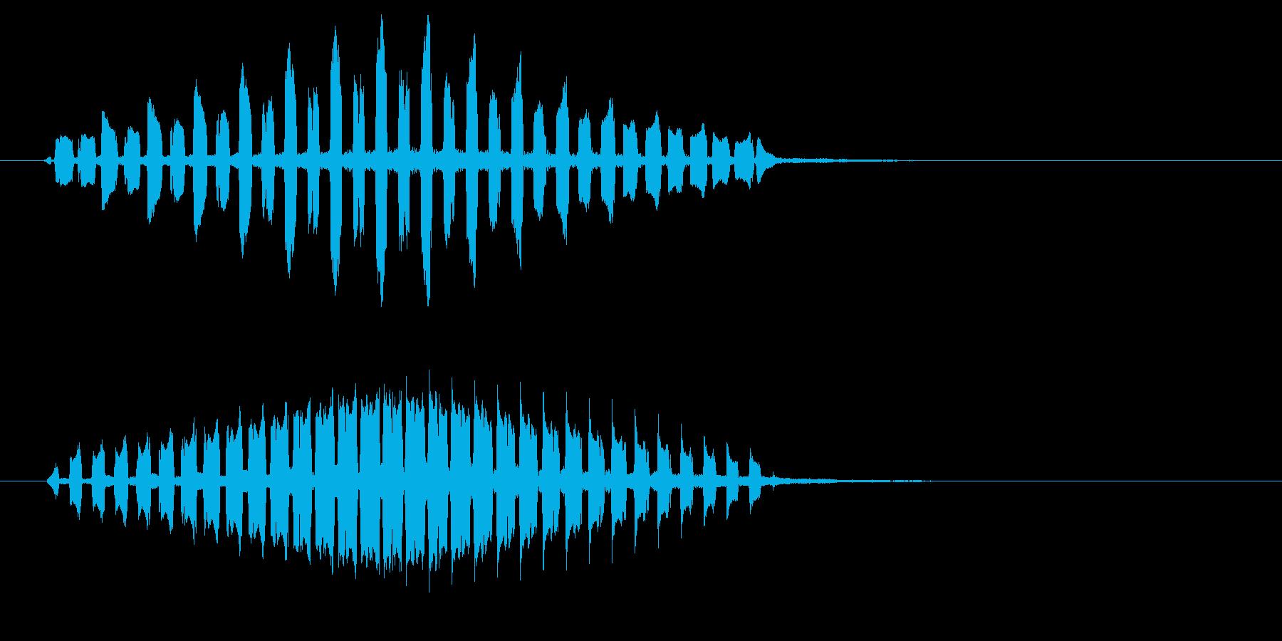 ピの連音(警報音、警戒音)の再生済みの波形