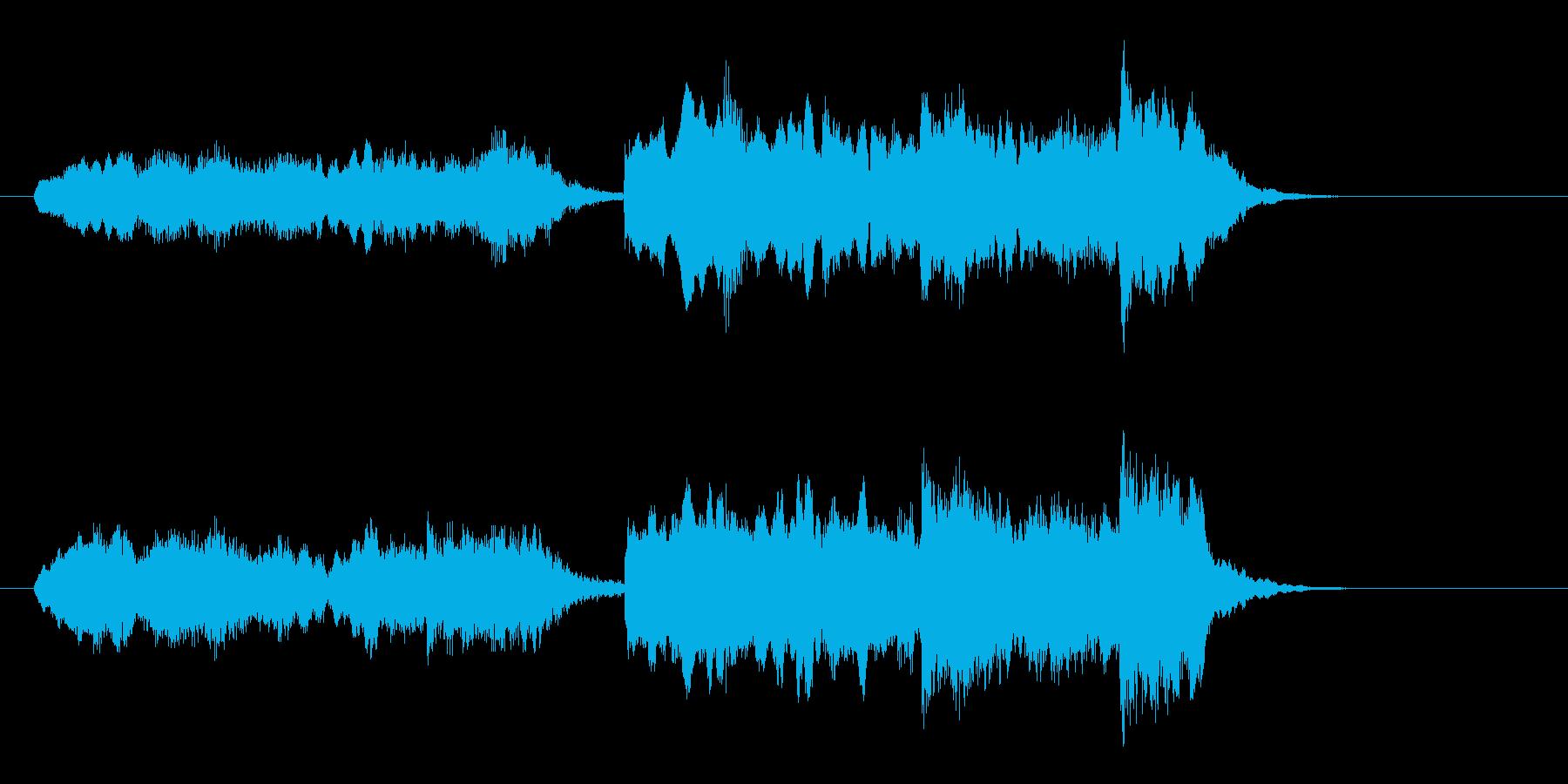 二胡の音がアジア大陸を思わせる短い楽曲の再生済みの波形