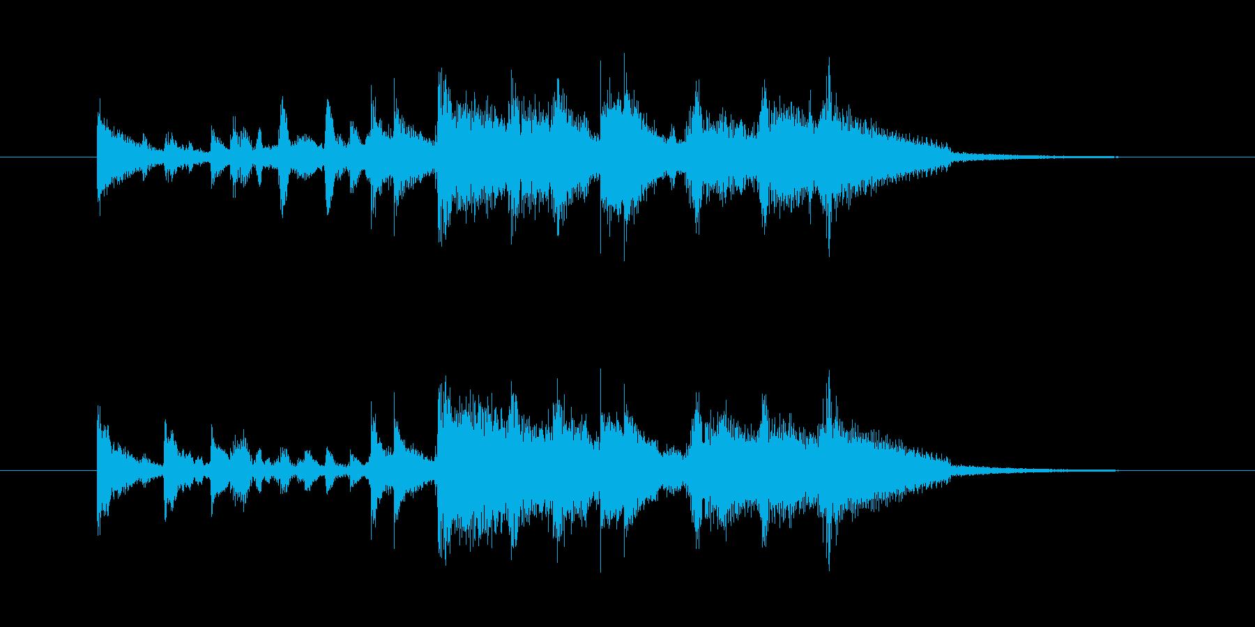 ジングル(スタイリッシュなサウンド)の再生済みの波形