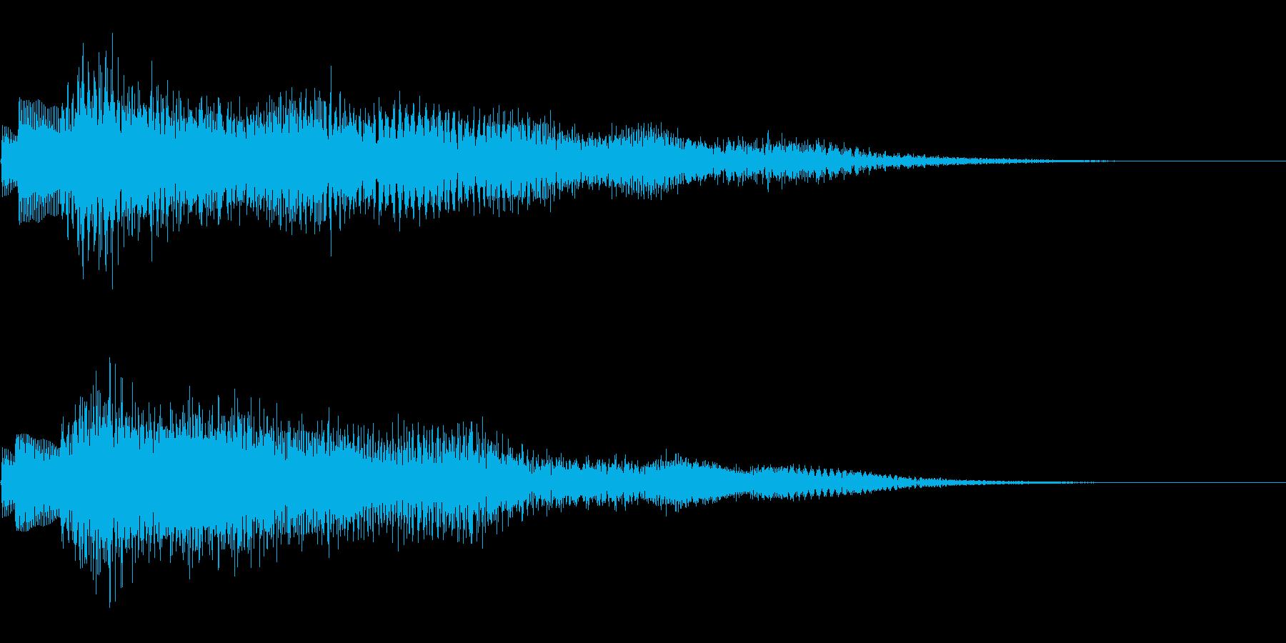 シャララン (決定音)の再生済みの波形