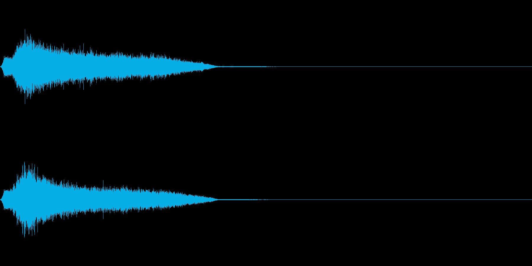 ガチャ_ゲット音(レア度S)の再生済みの波形