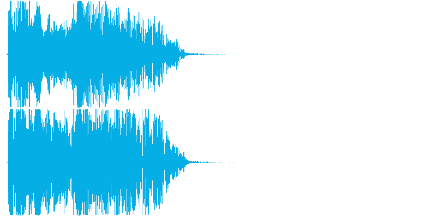 格闘ゲーム用「ダブルKO」の再生済みの波形